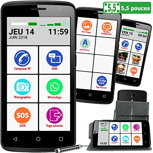 Mobiho-Essentiel Le SMART INITIAL 5,5 pouces, interface seni