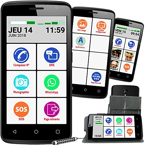 Mobiho-Essentiel Le SMART INITIAL 5 pouces, interface senior